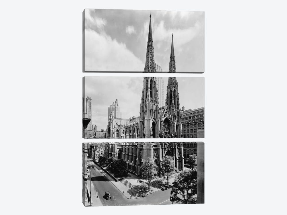 Saint Patrick's Cathedral by Print Collection 3-piece Canvas Artwork