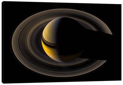 Saturn On the Final Frontier Canvas Art Print