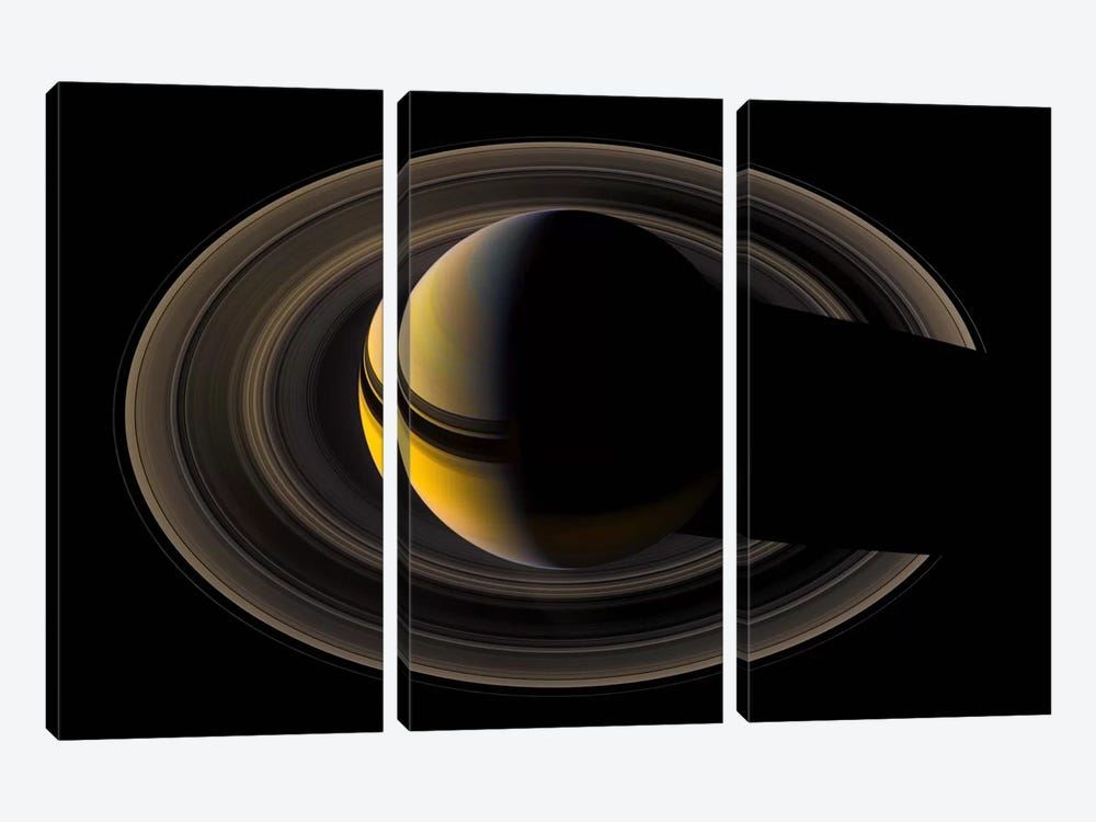 Saturn On the Final Frontier by Print Collection 3-piece Canvas Print