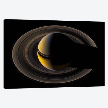 Saturn On the Final Frontier Canvas Print #PCA511} by Print Collection Canvas Print