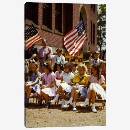 School Children, 1/2 Polish 1/2 Italian Canvas Print #PCA512} by Print Collection Canvas Print