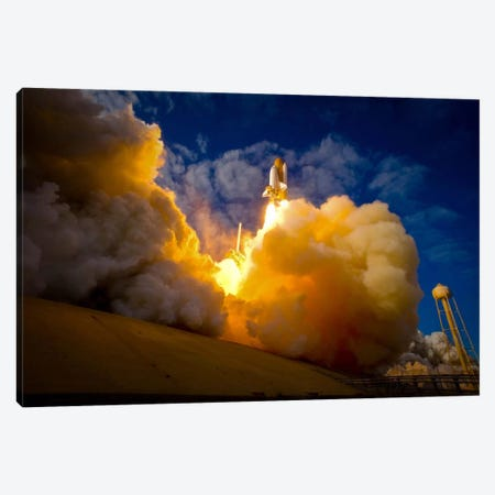 Space Shuttle Atlantis Canvas Print #PCA516} by Print Collection Canvas Art