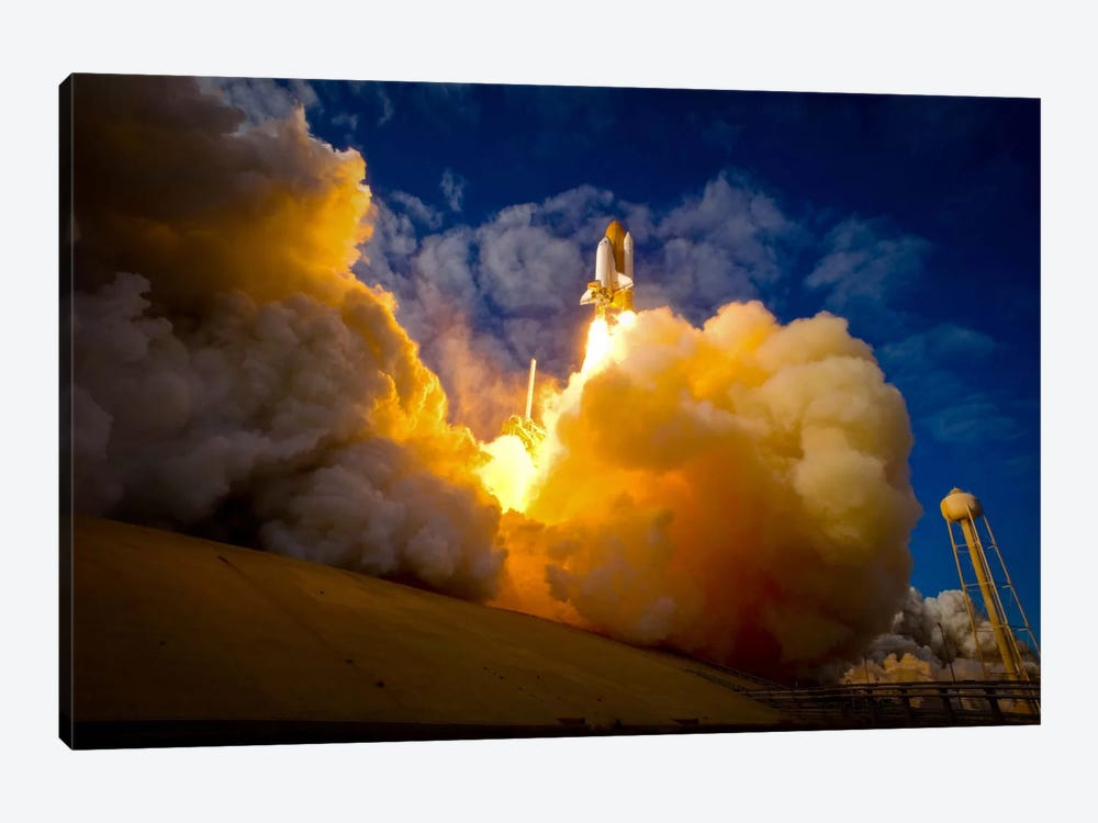 Space Shuttle Atlantis by Print Collection 1-piece Canvas Wall Art