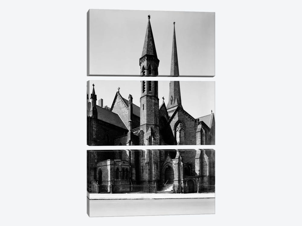 St. Paul's Episcopal Cathedral, Buffalo by Print Collection 3-piece Canvas Art Print