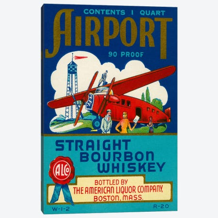 Airport Bourbon Whiskey Canvas Print #PCA51} by Print Collection Canvas Art Print