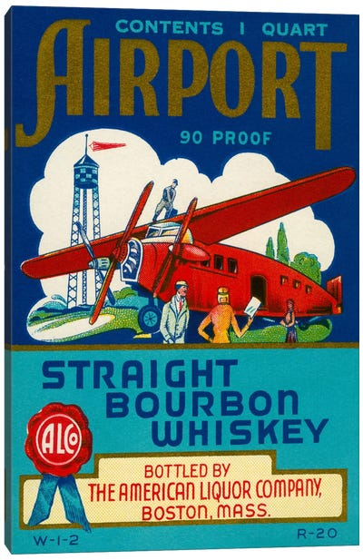 Airport Bourbon Whiskey Canvas Print #PCA51
