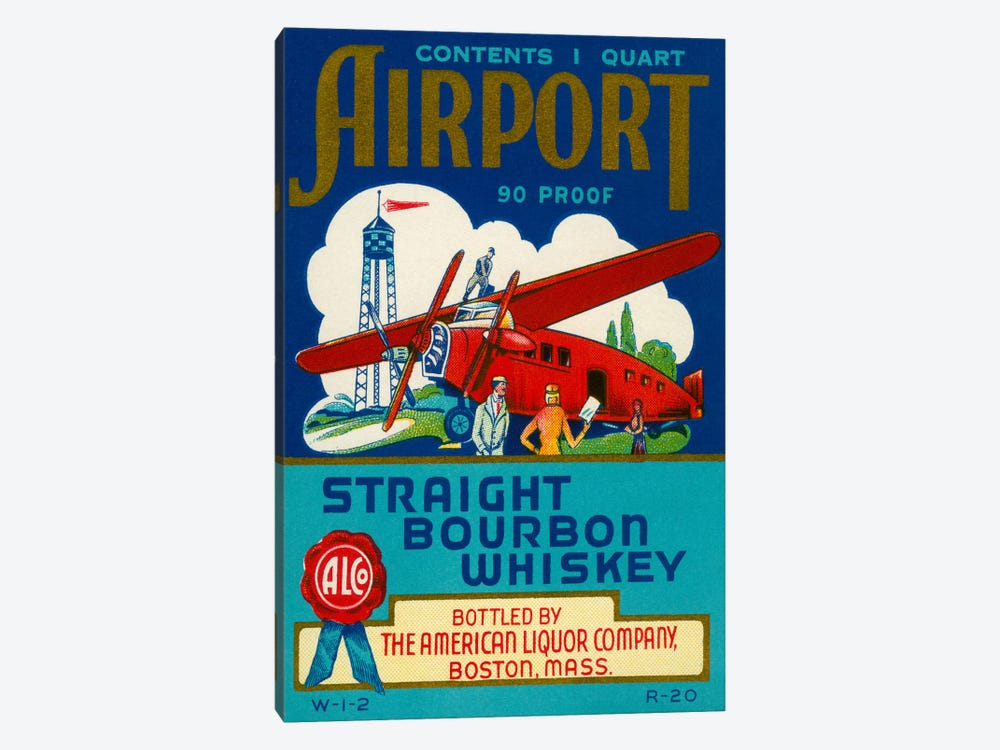 Airport Bourbon Whiskey by Print Collection 1-piece Canvas Print