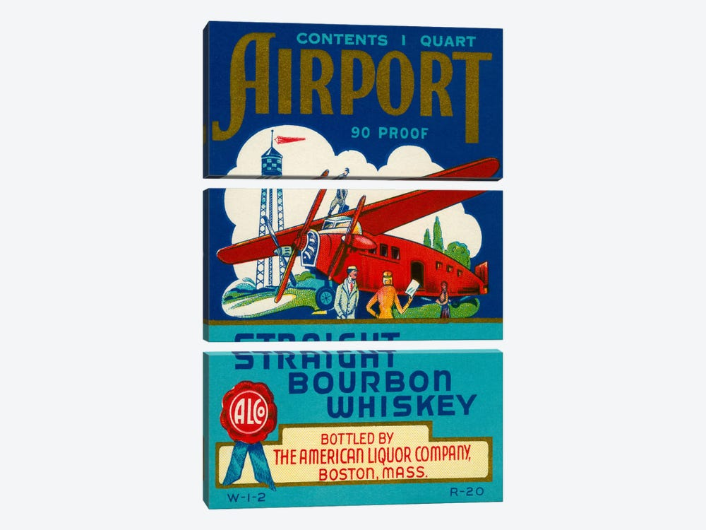 Airport Bourbon Whiskey by Print Collection 3-piece Art Print