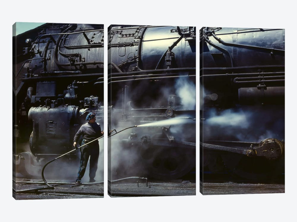 Viola, Roundhouse Wiper, Iowa by Print Collection 3-piece Canvas Print