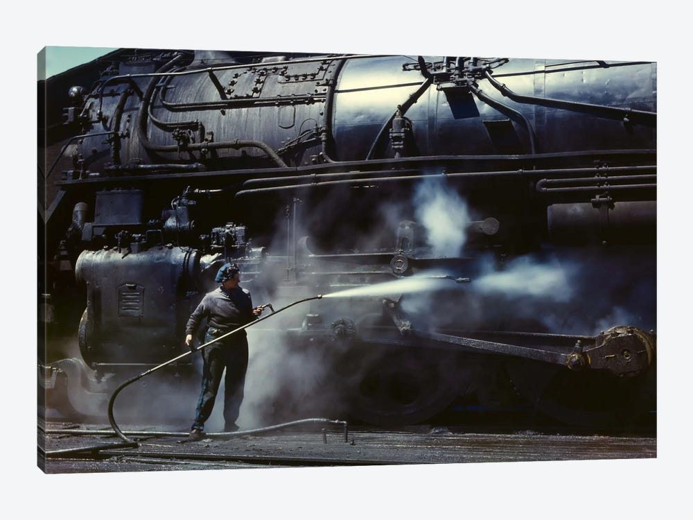 Viola, Roundhouse Wiper, Iowa by Print Collection 1-piece Canvas Print