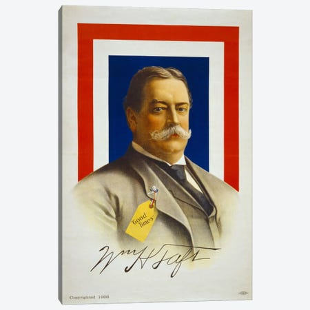 William Henry Taft, Candidate for U.S. President Canvas Print #PCA529} by Print Collection Canvas Wall Art