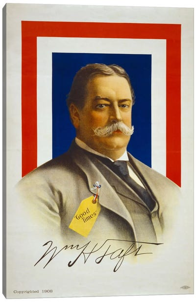 William Henry Taft, Candidate for U.S. President Canvas Art Print