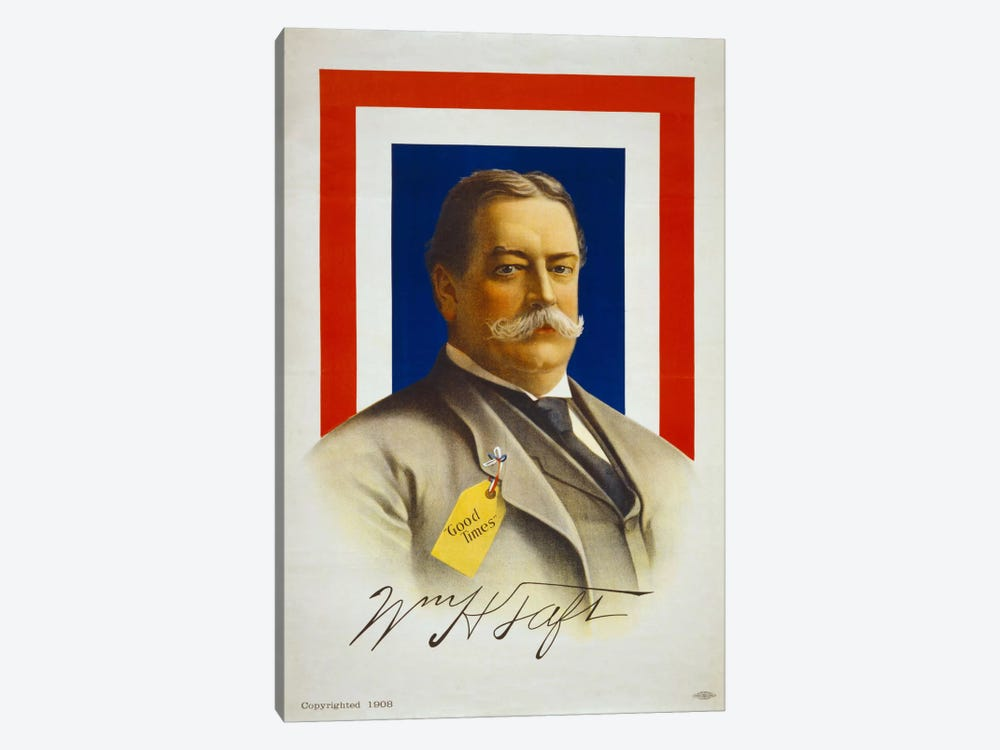 William Henry Taft, Candidate for U.S. President by Print Collection 1-piece Canvas Wall Art