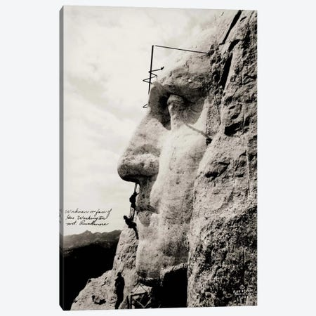 Workmen on Face of George Washington Canvas Print #PCA531} by Print Collection Canvas Print
