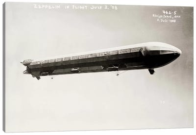Zeppelin Airship in Flight II Canvas Art Print