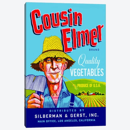 Cousin Elmer Canvas Print #PCA56} by Print Collection Canvas Wall Art