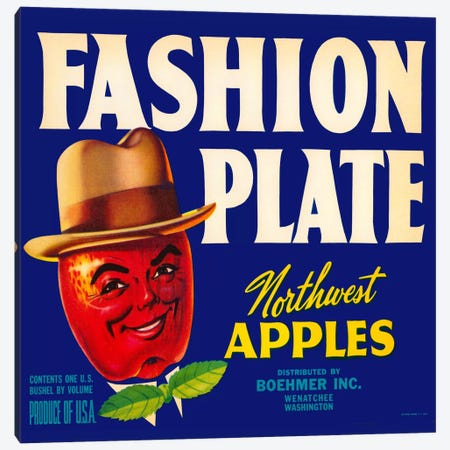 Fashion Plate Apples Canvas Print #PCA58} by Print Collection Art Print