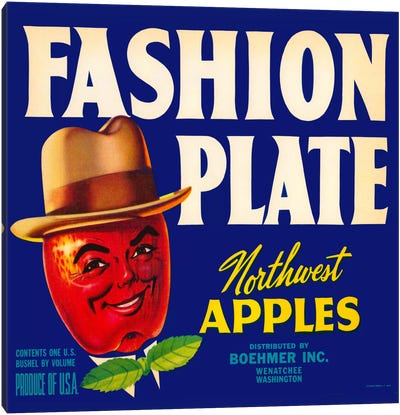 Fashion Plate Apples Canvas Print #PCA58