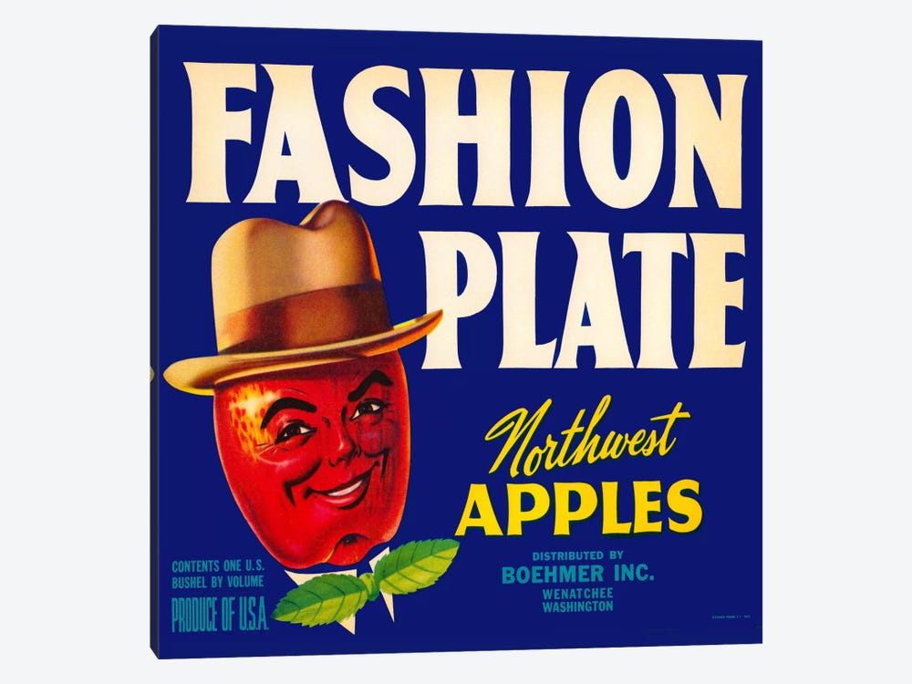 Fashion Plate Apples by Print Collection 1-piece Canvas Artwork