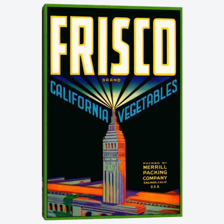 Frisco Brand California Vegetables Canvas Print #PCA61} by Print Collection Canvas Wall Art