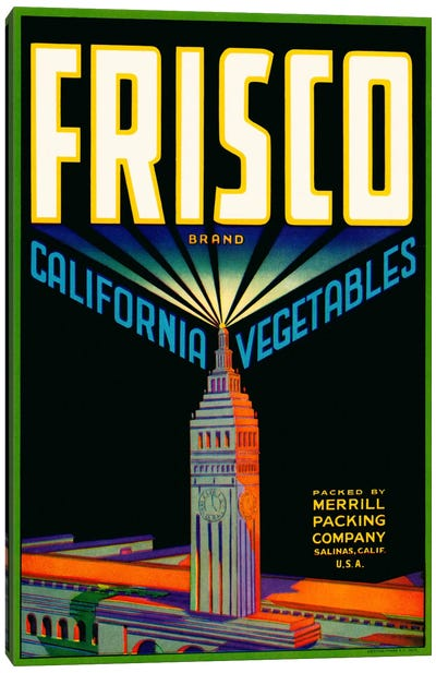 Frisco Brand California Vegetables Canvas Art Print