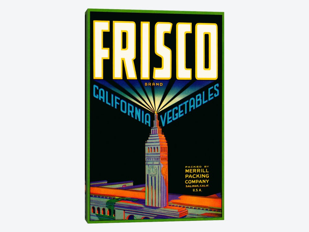 Frisco Brand California Vegetables by Print Collection 1-piece Canvas Wall Art