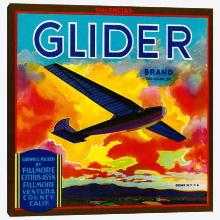 Glider Brand Valencias Canvas Print #PCA63} by Print Collection Canvas Art