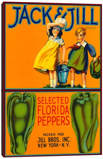 Jack & Jill Brand Peppers Canvas Art Print