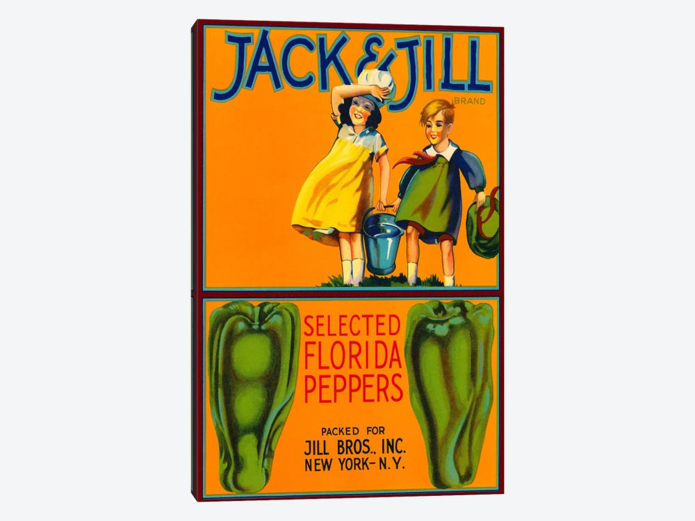 Jack & Jill Brand Peppers by Print Collection 1-piece Canvas Art Print