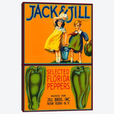 Jack & Jill Brand Peppers Canvas Print #PCA64} by Print Collection Art Print