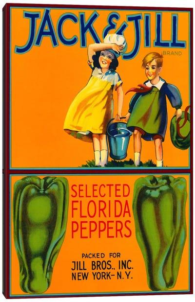 Jack & Jill Brand Peppers Canvas Art Print
