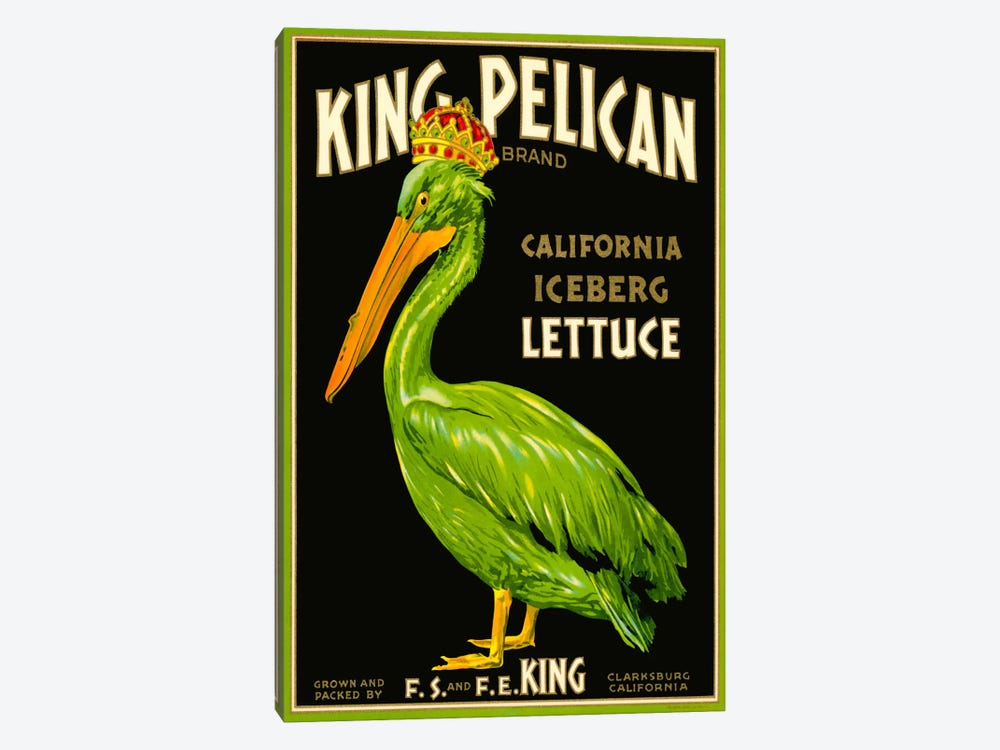 King Pelican Brand Lettuce by Print Collection 1-piece Canvas Art Print