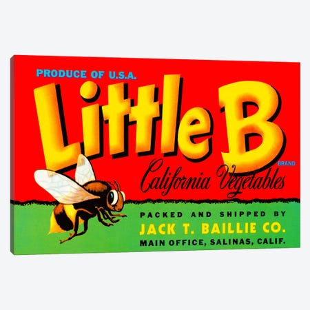 Little B Brand California Vegetables Canvas Print #PCA67} by Print Collection Canvas Print