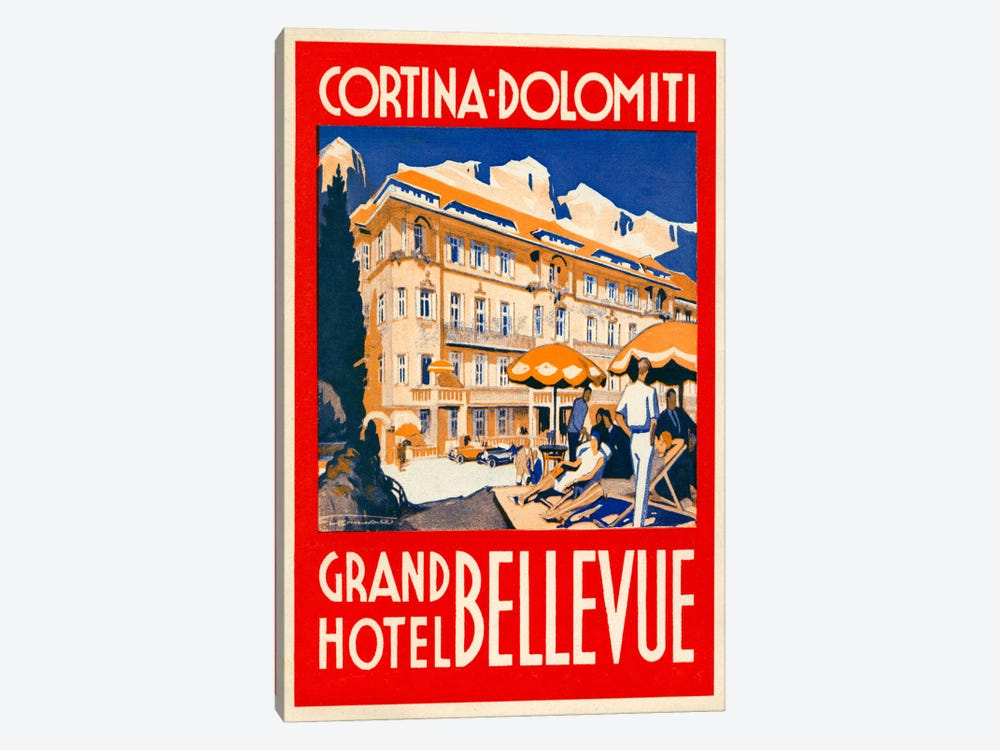 Cortina Dolomiti, Grand Hotel Bellevue by Print Collection 1-piece Canvas Wall Art