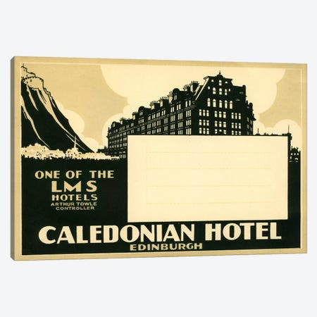 Caledonian Hotel, Edinburg Canvas Print #PCA70} by Print Collection Canvas Art Print