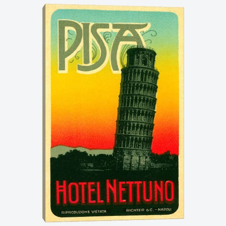 Hoel Nettuno, Pisa Italy Canvas Print #PCA73} by Print Collection Canvas Print