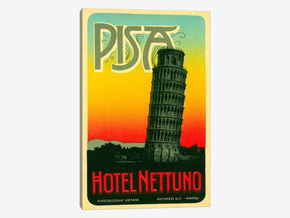 Hoel Nettuno, Pisa Italy by Print Collection 1-piece Canvas Art Print