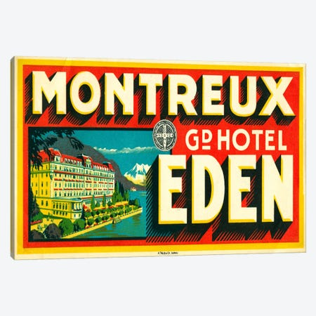 Montreux Grand Hotel, Eden Canvas Print #PCA75} by Print Collection Canvas Wall Art