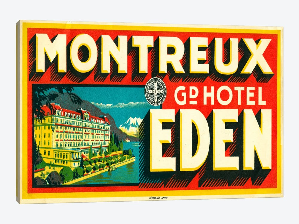 Montreux Grand Hotel, Eden by Print Collection 1-piece Art Print
