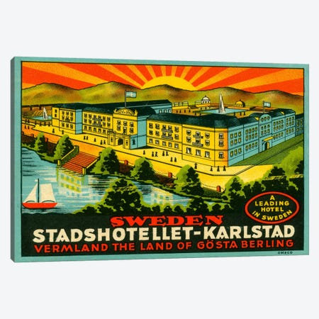 Luggage Stadshotellet Karlstad Canvas Print #PCA76} by Print Collection Canvas Wall Art