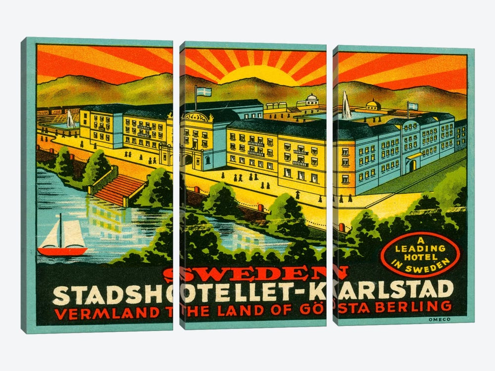Luggage Stadshotellet Karlstad by Print Collection 3-piece Canvas Artwork