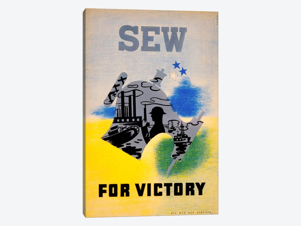Sew for Victory by Print Collection 1-piece Canvas Artwork