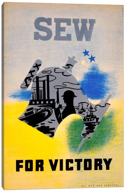 Sew for Victory Canvas Art Print