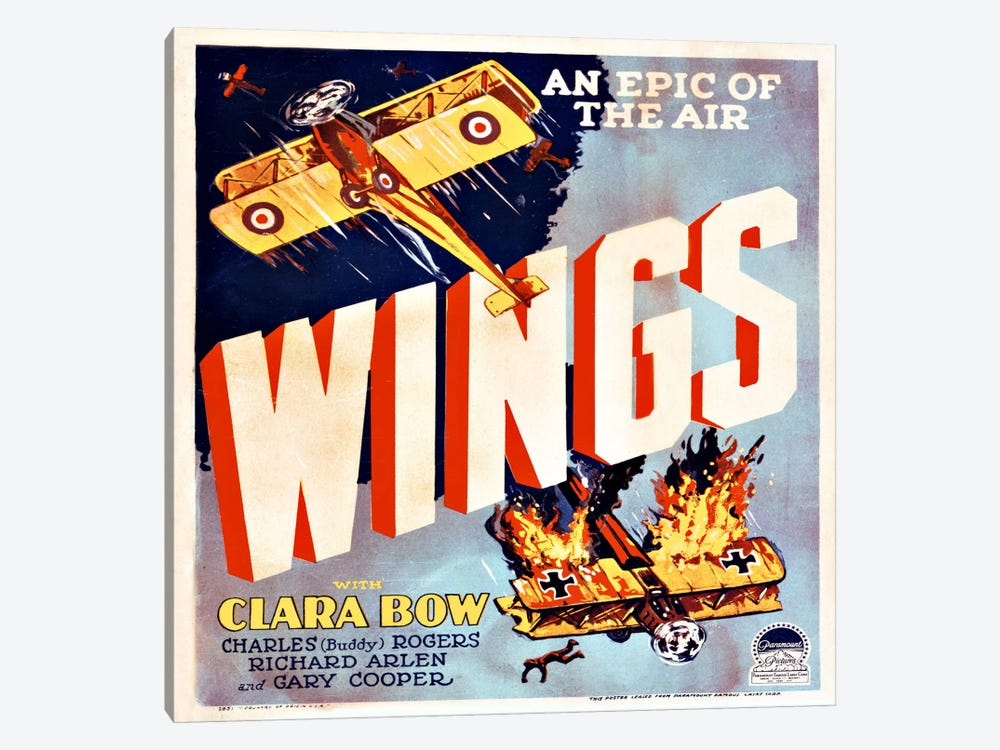 Wings Movie Poster by Print Collection 1-piece Canvas Wall Art