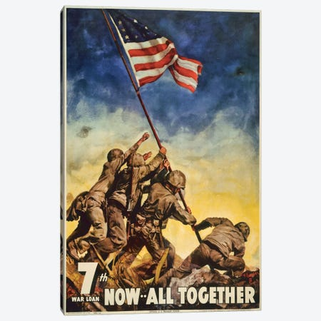 Marines All Together Canvas Print #PCA84} by Print Collection Art Print