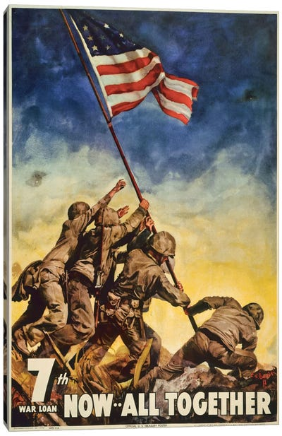 Marines All Together Canvas Art Print