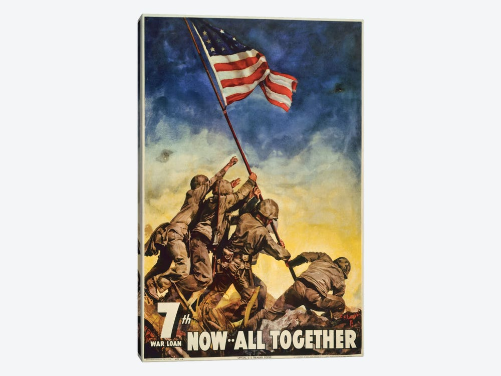 Marines All Together 1-piece Canvas Art Print