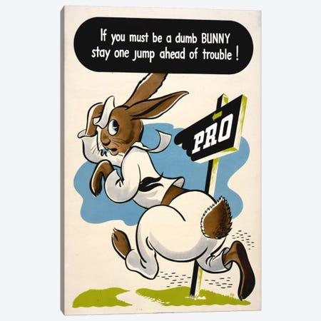 Dumb Bunny Canvas Print #PCA86} by Print Collection Art Print