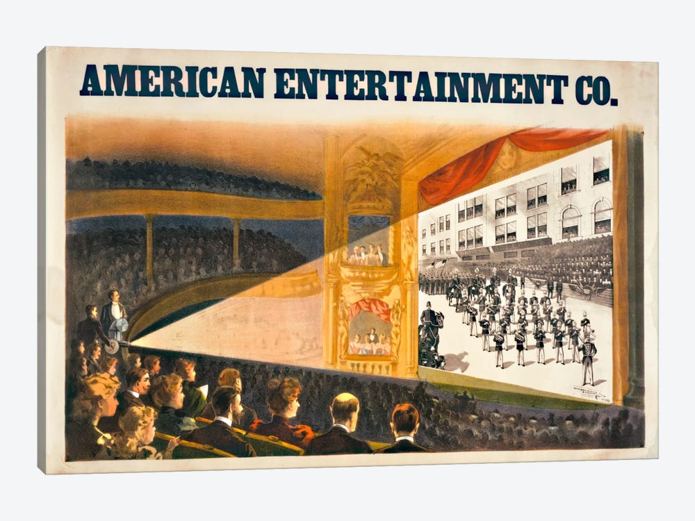 American Entertainment by Print Collection 1-piece Canvas Artwork