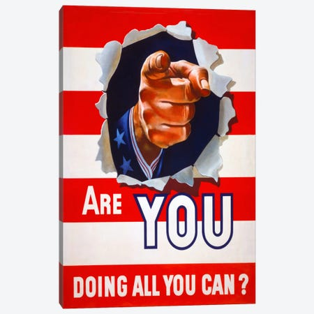 Are You Doing All You Can? Canvas Print #PCA90} by Print Collection Canvas Art Print